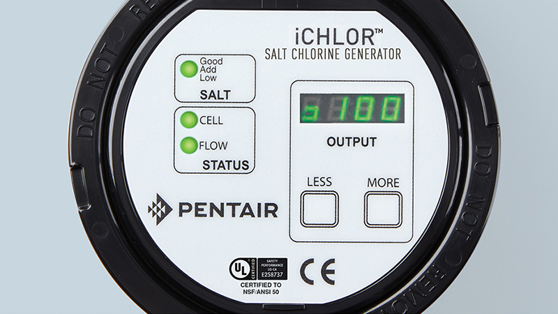 pentair ichlor salt chlorine generator control panel