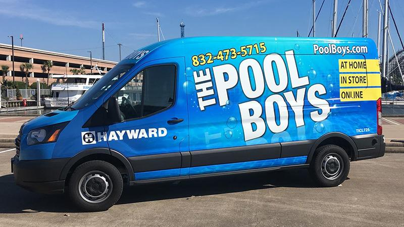 The Pool Boys new service van