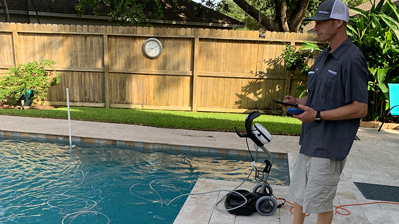 visual pool inspection