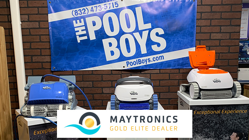 The Pool Boys Maytronics Gold Elite Dealer store display