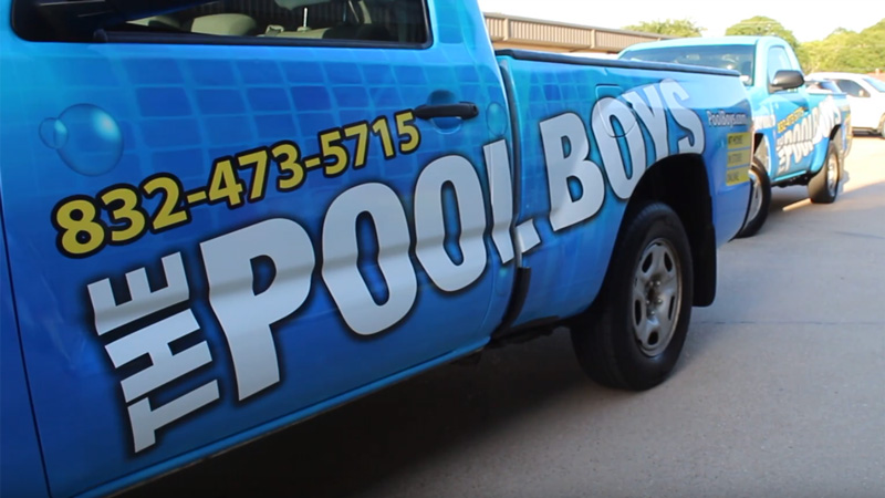 The Pool Boys Weekly Pool Maintenance Truck