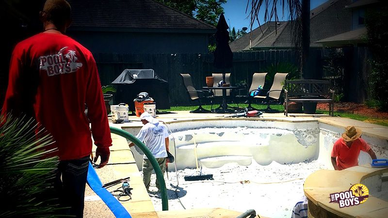 The Pool Boys starting a new pool remodel project