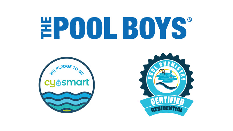The Pool Boys CYA Smart Alliance and Pool Chemistry Certified Residential logos